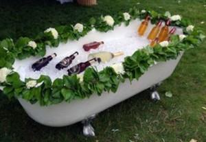 Wendy's wedding on Thetis Island booze bath