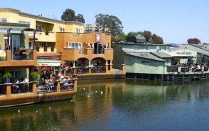 Capitola lagoon-side restaurants — for cocktails and partying.