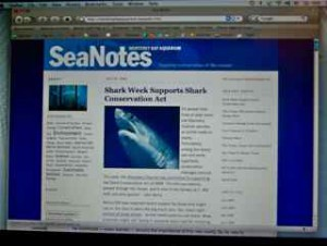 SeaNotes, part of the Monterey Bay Aquarium's integrated social media platform.