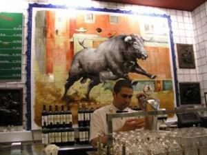 Madrid tapas bar.