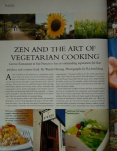 Greens Restaurant story by Wanda Hennig from Food Illustrated