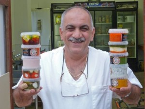 Dino Constantinou with some of his dips