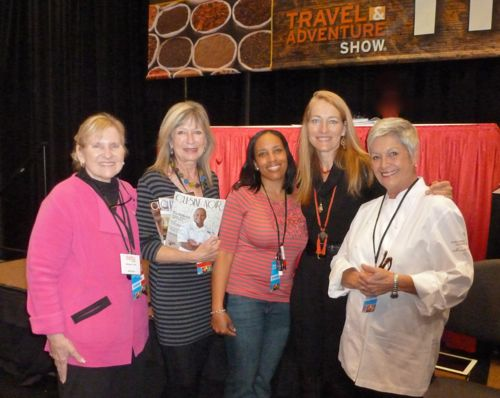 Cuisine Noir panelists Maralyn Hill, Wanda Hennig, Sheree Williams, Mary Vincent and Marcelle Bienvenu.