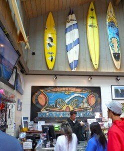 Mavericks surf shop.