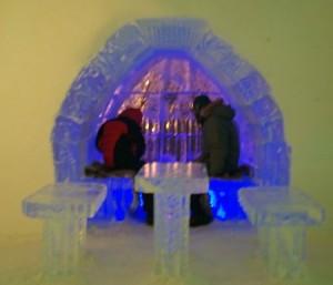 Canada Ice Hotel bar.