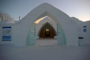 Welcome to Canada's ice hotel.