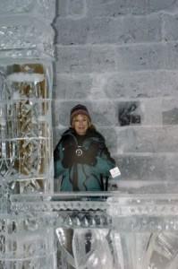 Wanda Hennig at Canada's ice hotel.