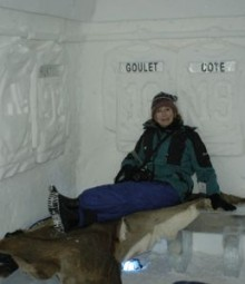 Ice hotel bedroom, Canada.