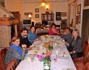 Dinner Renata Bukowska and hosts at W Aroniach Lanckorona.