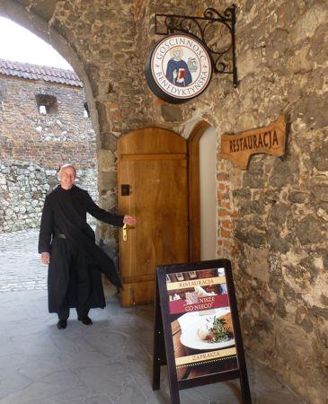 Father Zygmunt Galoch Benedictine abbey restaurant.