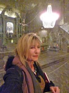 Selfie inside Wieliczka Salt Mine