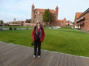 The author at Gniew castle in Poland.
