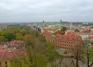 Krakow skyline from the 70-step bell tower